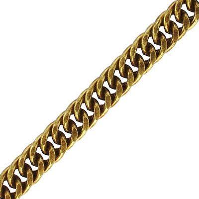 Chain, 8x10.5mm, 1.6mm wire, antique brass, nickel free, 5 meters
