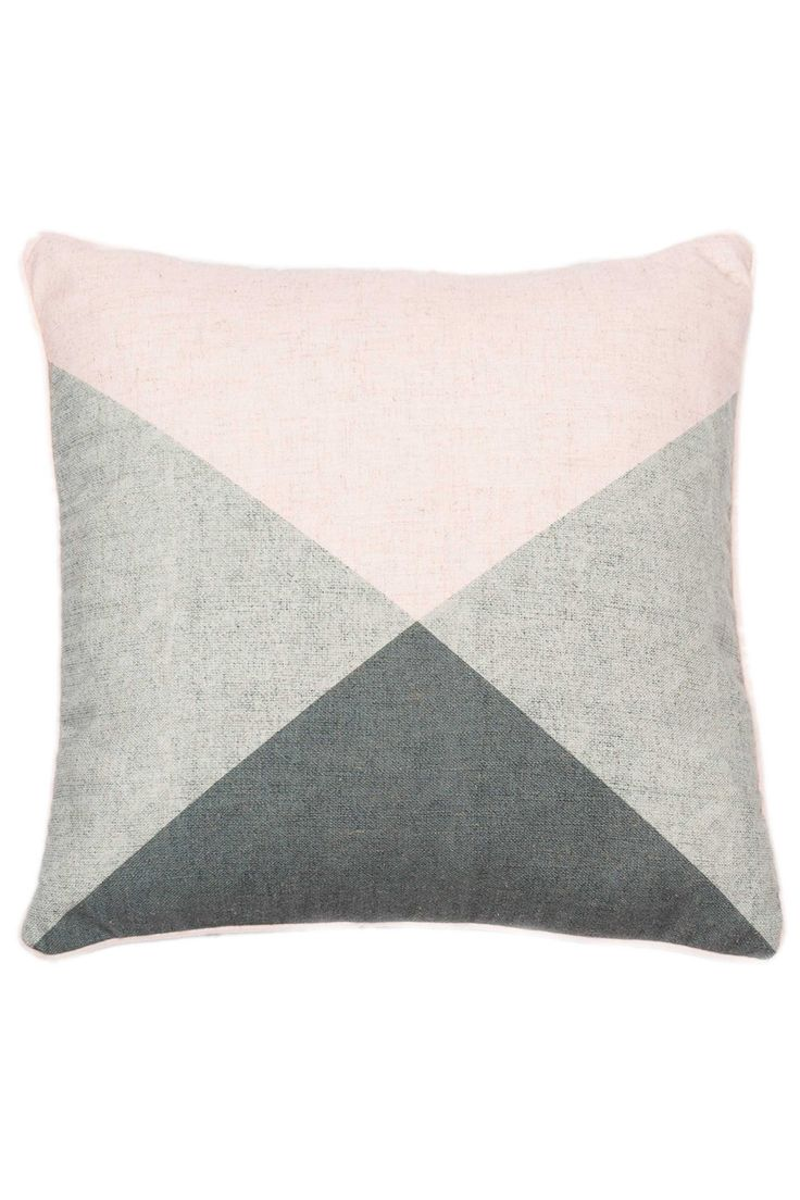 Printed Triangle Cushion With Feather Pad, Multi, L45 X W45 | BHS