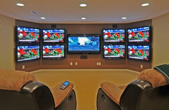 Man Cave With Multiple Tvs : Best images about dream home ideas on pinterest