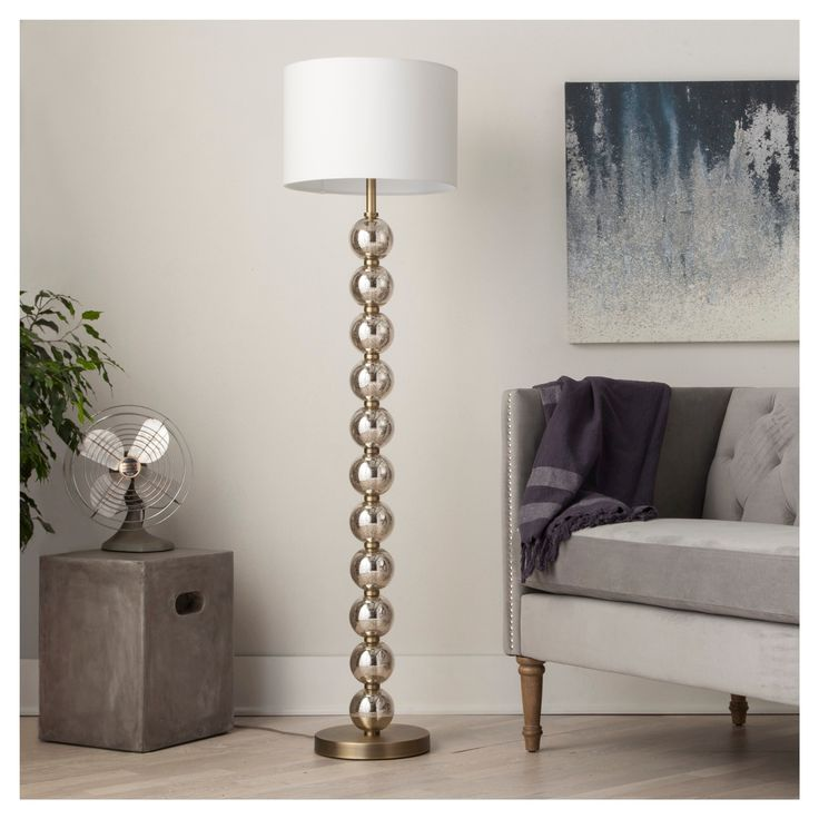 Melrose Mid Century Brass White Shade Floor Lamp: 1000+ Ideas About Standing Lamps On Pinterest