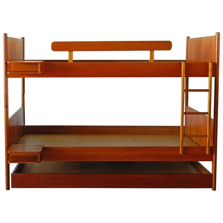 Westnofa Teak Bunk Beds with Trundle | From a unique collection of antique and modern bedroom furniture at https://www.1stdibs.com/furniture/more-furniture-collectibles/bedroom-furniture/