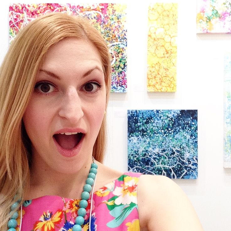 #selfie with my artwork on Opening Night!