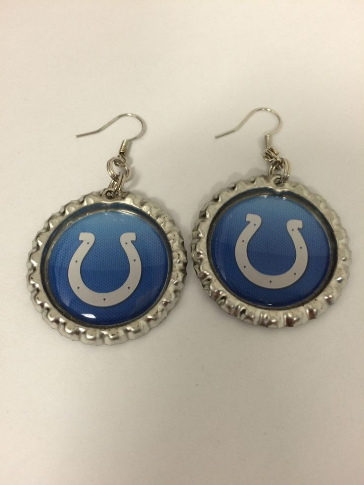 Indianapolis Colts earrings from my Etsy shop https://www.etsy.com/listing/169052134/indianapolis-colts-earrings-indianapolis