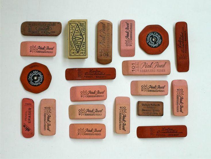 eraseErase, Lisa Congdon, Vintage Era, Pink, Pencil Cases, Collection, Blog Design, Offices Wall, Offices Supplies