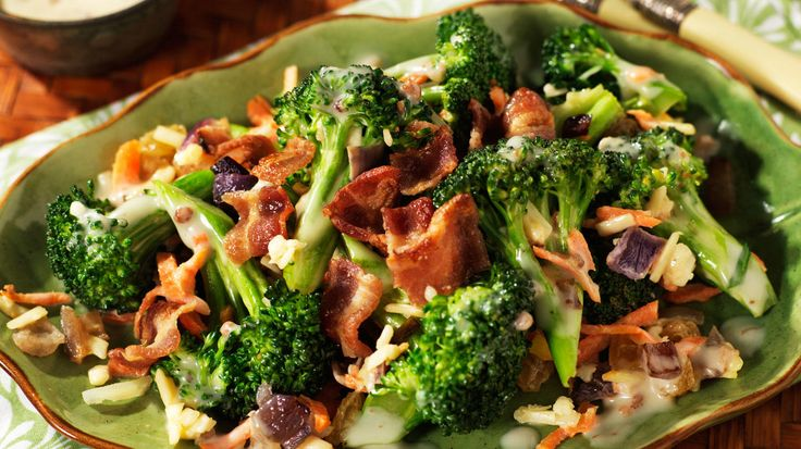 Salade Crémeuse au Bacon et au Brocoli
