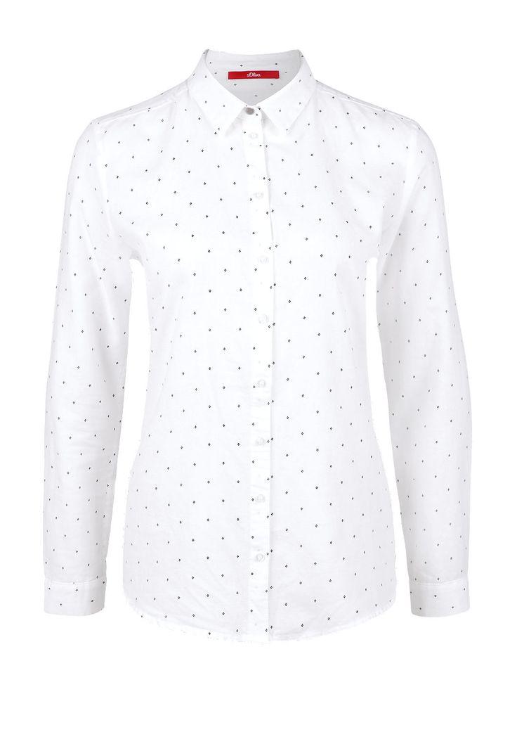 Hemdbluse aus Twill von s.Oliver. Entdecken Sie jetzt topaktuelle Mode für Damen, Herren und Kinder online und bestellen Sie versandkostenfrei.