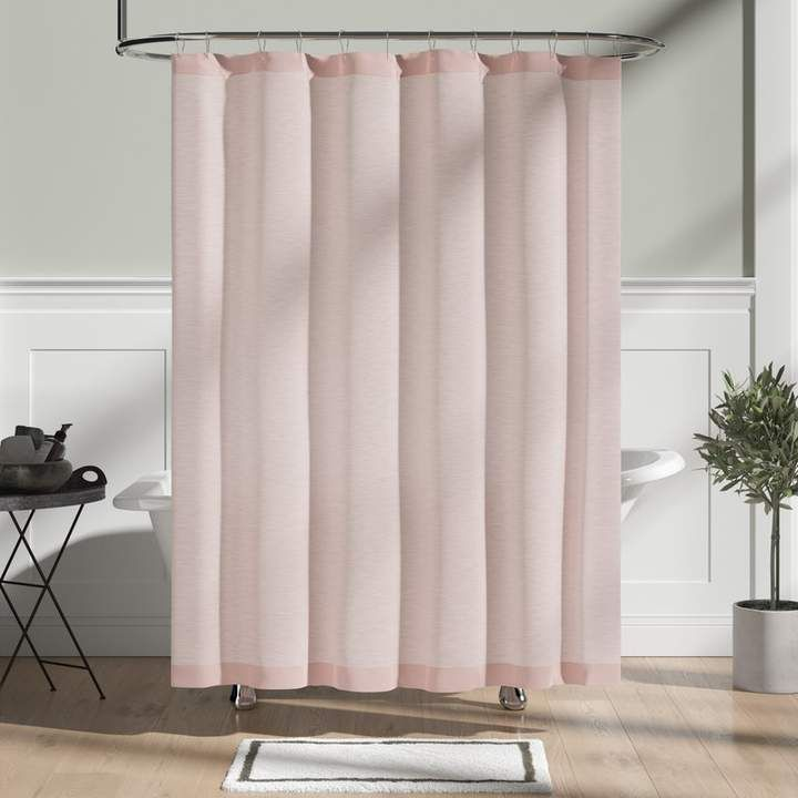 Co The Twillery Wallingford Woods Chambray Single Shower Curtain
