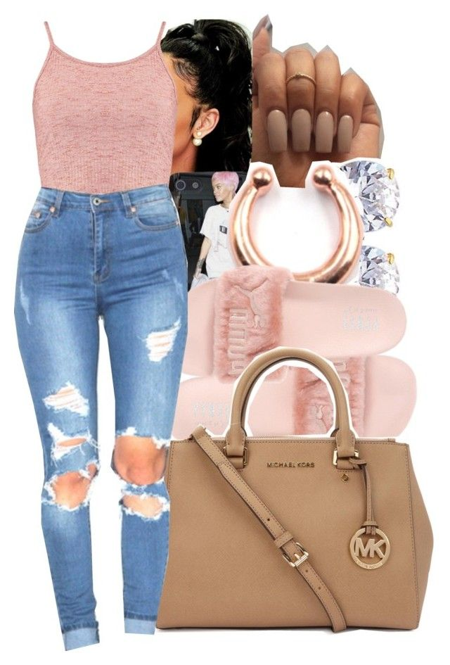 """""""rrh"""" by yeauxbriana ❤ liked on Polyvore featuring Boohoo, Puma and Michael Kors"""
