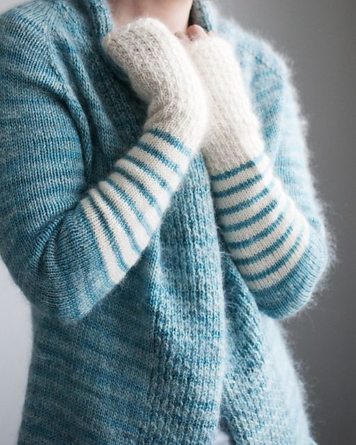 Ravelry: Trin-Annelie's *sKY BoB....TEsT*, knit from BeauB pattern by La Maison Rililie. Yowza, Wowza and all that jazz! I'm in love with this beyond gorgeous, truly immaculate cardigan! Wow! I want to knit my own identical to this one! It's sweater perfection
