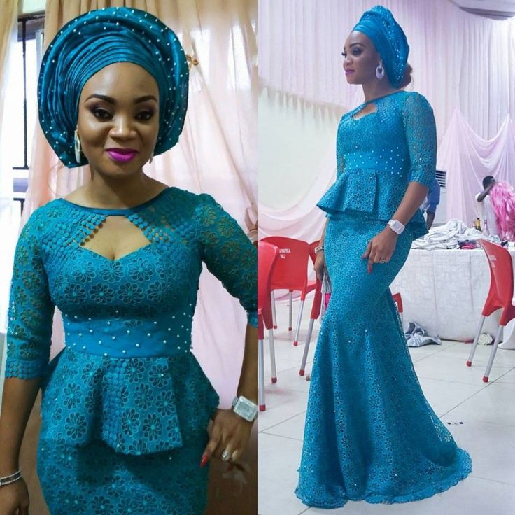 Check Out This Lovely Aso Ebi Lace Style .... Check Out This Lovely Aso Ebi Lace Style