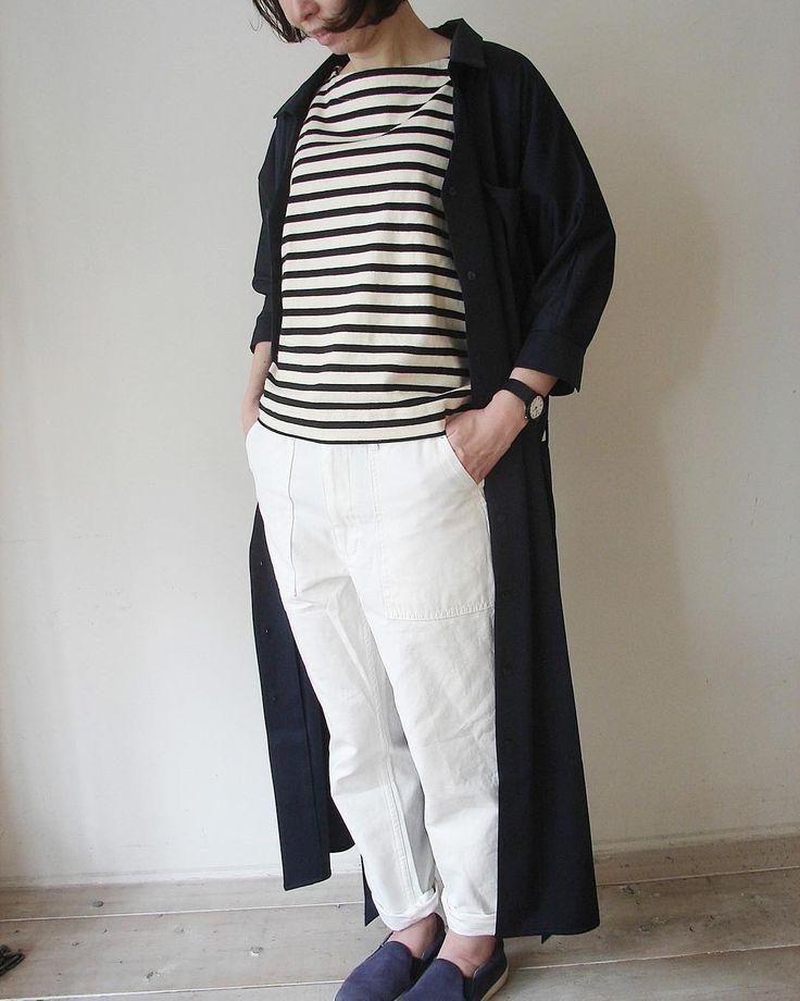 PAO Kyoto Japan #fashionkyoto  #outfitokyoto  #gokomachi  #京都セレクトショップ  #ホワイトパンツ  #春コーデ  #ボーダーコーデラブ
