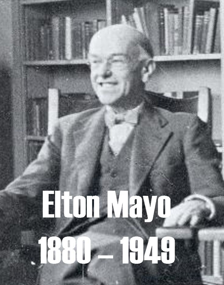 history of management thought elton mayo Elton mayo's contribution to management theory helped pave the way for modern human relations management methods based on his well-known hawthorne experiments, mayo's management theories grew from his observations of employee productivity levels under varying environmental.
