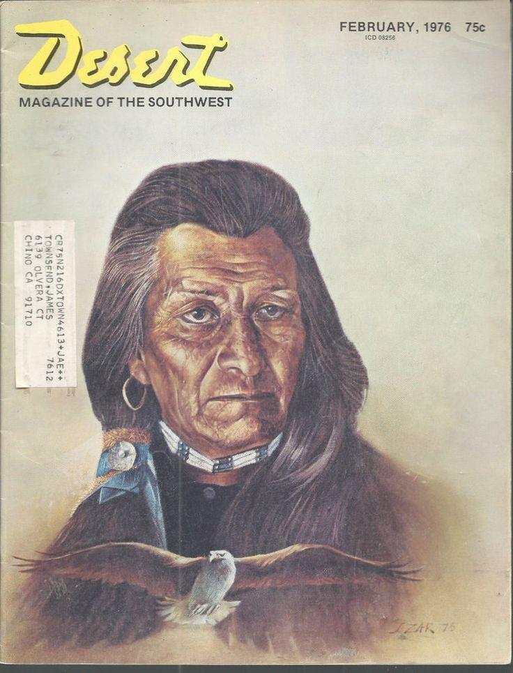 Black Eagle James Zar Painting Desert Magazine Jan 1976 Palm Desert California  #doesnotapply