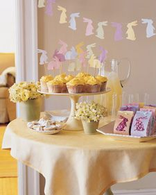 Easter Bunny Garland, Cupcake Toppers, and Gift Bags - Martha Stewart Holidays