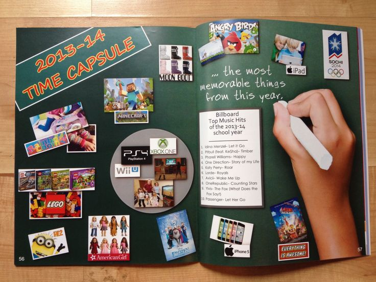 Funny Yearbook Promotion Ideas: YEARBOOK TIME CAPSULE. This Is A Fun Yearbook Idea For