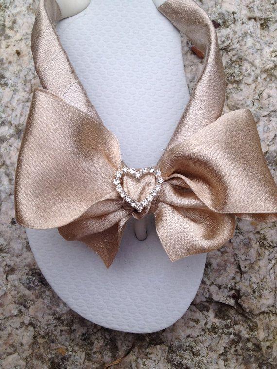 Bridal Flip Flops/Wedges.WEDDING Flip by RocktheFlops on Etsy