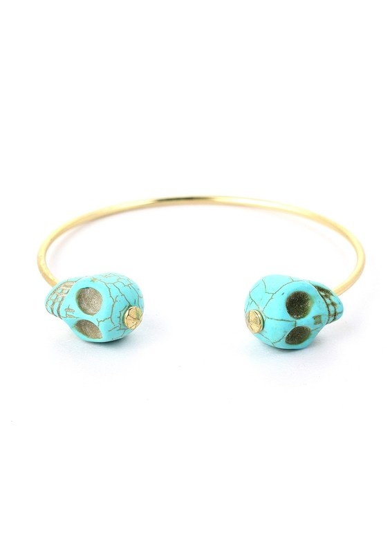 skull end cuff bracelet