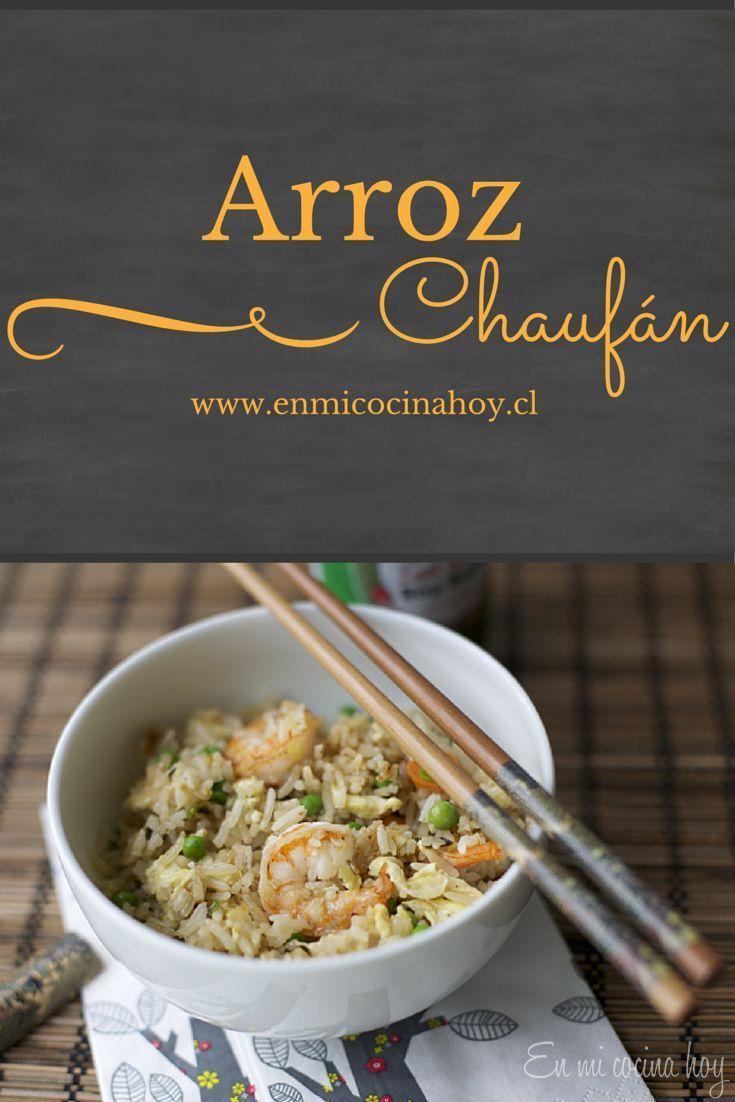 ARROZ CHAUFAN Una receta fácil para usar los restos de arroz. Un clásico de los restaurantes chinos en Chile.