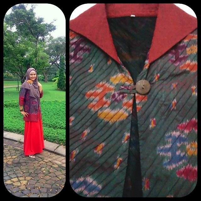 tenun, handwoven fabric from Indonesia. #moslemoutfit #hijabfashion