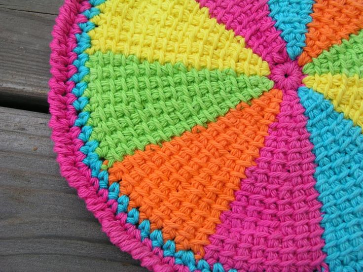 Ravelry: elshelbey's Tunisian circle potholder, with instructions