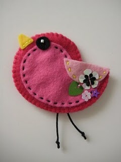 cute bird. Use a string of beads instead of the black thread