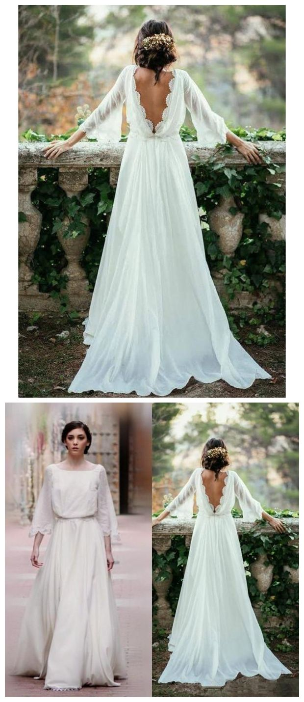 Backless Wedding Dresses Plus Size Beach Lace Vintage