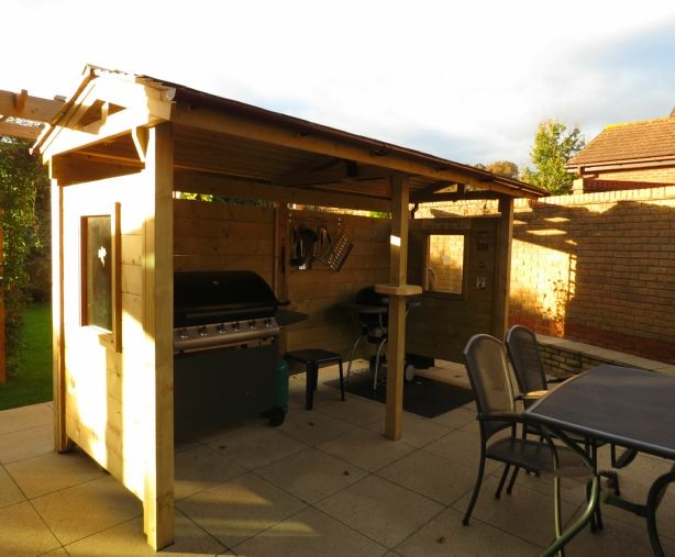 Bbq shelter design build garden pinterest design for Bbq grill designs and plans