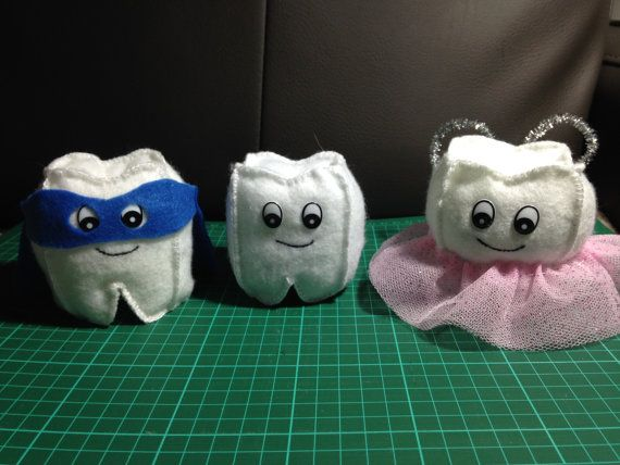 Felt Kit for Tooth Fairy Pillow / Plushie  by PaperQueenQuilting