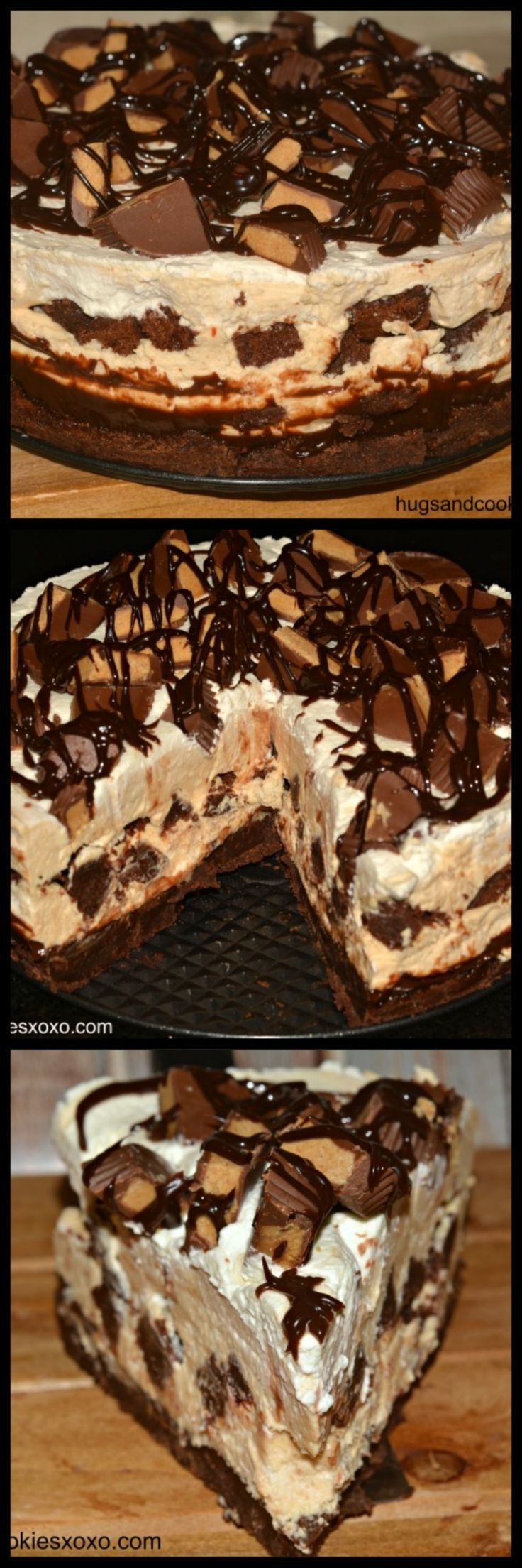 Peanut Butter Cup Brownie Cheesecake!! This is a Show Stopping Dessert and Tastes Like Heaven!!