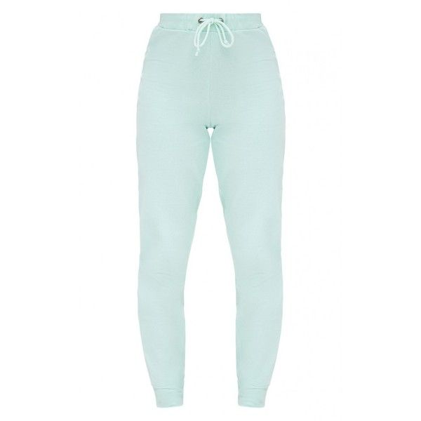 Petite Mint PLT Joggers ❤ liked on Polyvore featuring activewear, activewear pants, petite sportswear, petite activewear and petite activewear pants