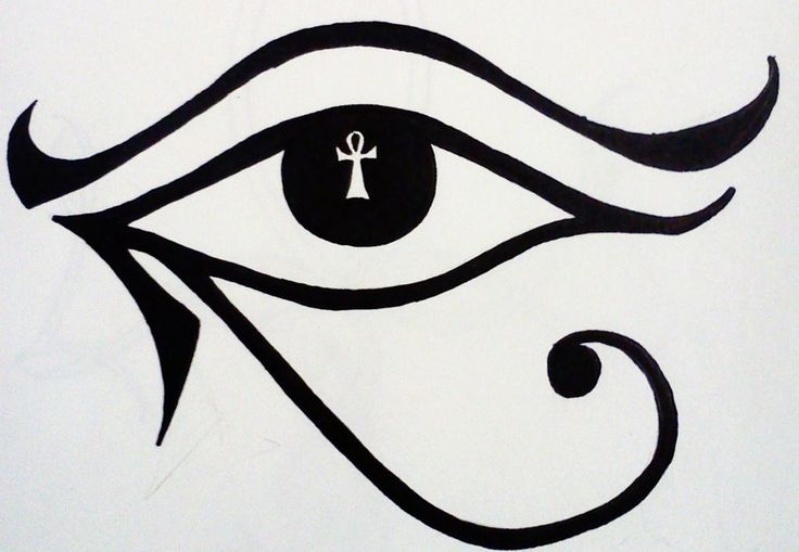 Eye of Horus plus Ankh tattoo