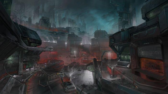 Futuristic Concept Art Halo Halo 3 Odst Video Games Wallpaper Halo 3 Odst Concept Art Halo 3