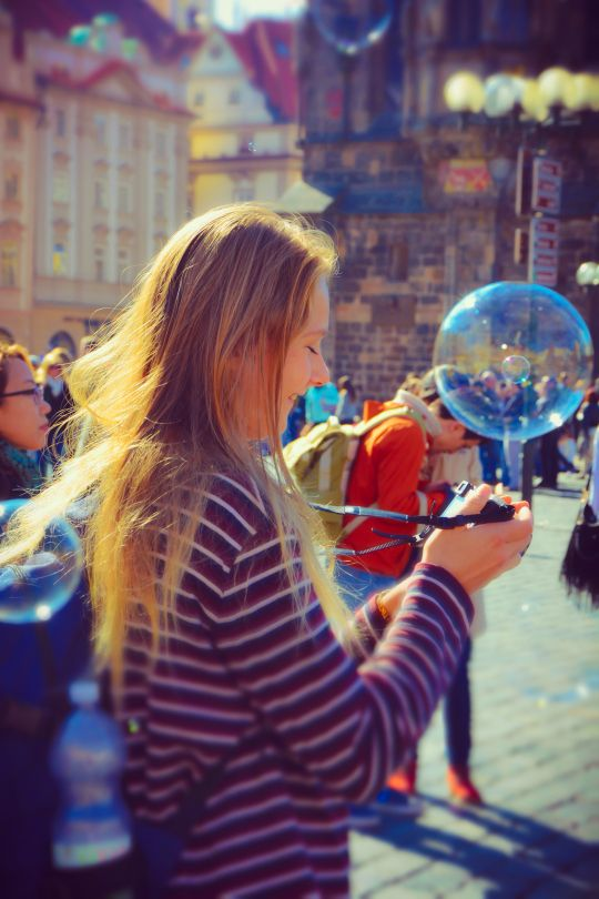 Chasing Bubbles In Old Town Square Prague by Leopard Print Photography Prague (4)