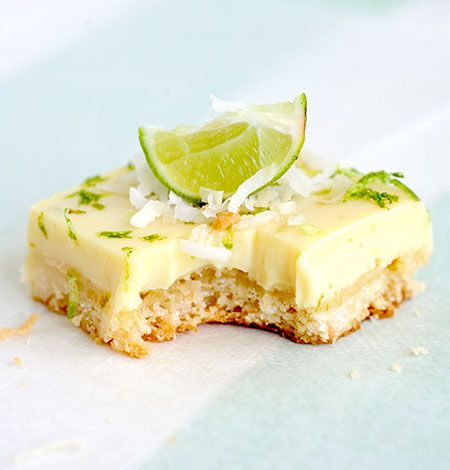 Key Lime Coconut Bars by theafternoonoff #Bars #Key_Lime #Coconut