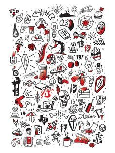 Image result for old school mini tattoo