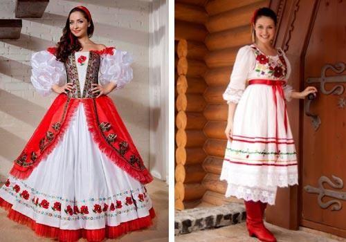 Народное платье русской девушки