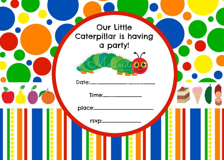Very Hungry Caterpillar Fill in the Blank Invitation