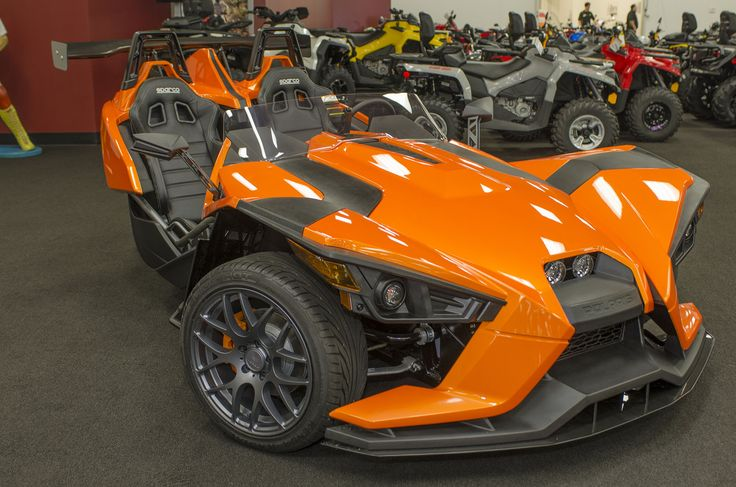 This Is The Orange Mojo Polaris Slingshot Put Together At