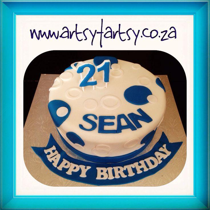 21st Polka Dot Cake