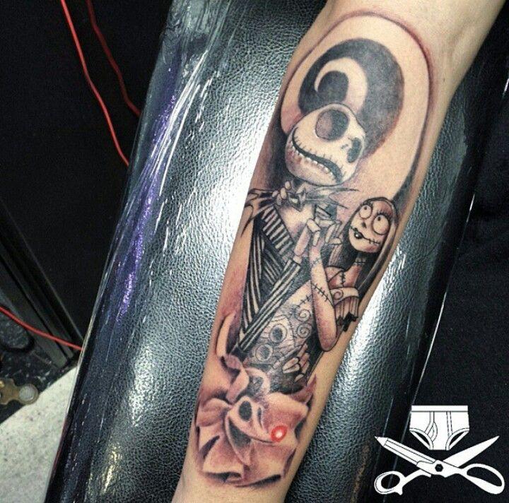 132 best images about jack skellington tattoos on for Jack skellington and sally tattoos