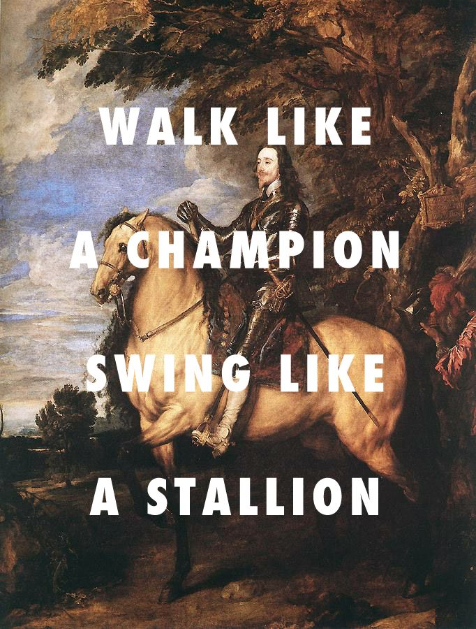 flyartproductions: two big medallion Charles I on horseback (1635), Anthony van Dyck / Twerk It, Busta Rhymes ft. Nicki Minaj