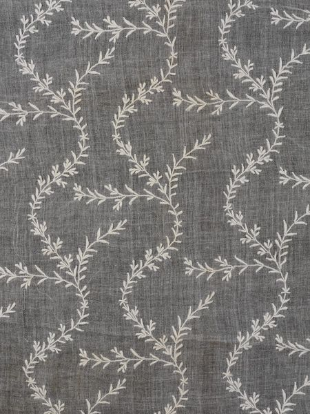 Woven muslin, embroidered in cotton, chikan work, 19th C., V