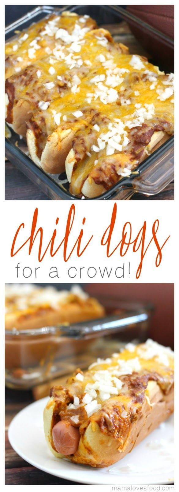 Making Chili Dogs for a Crowd or Chili Dog Casserole is the perfect way to feed a group and still be able to enjoy the party!