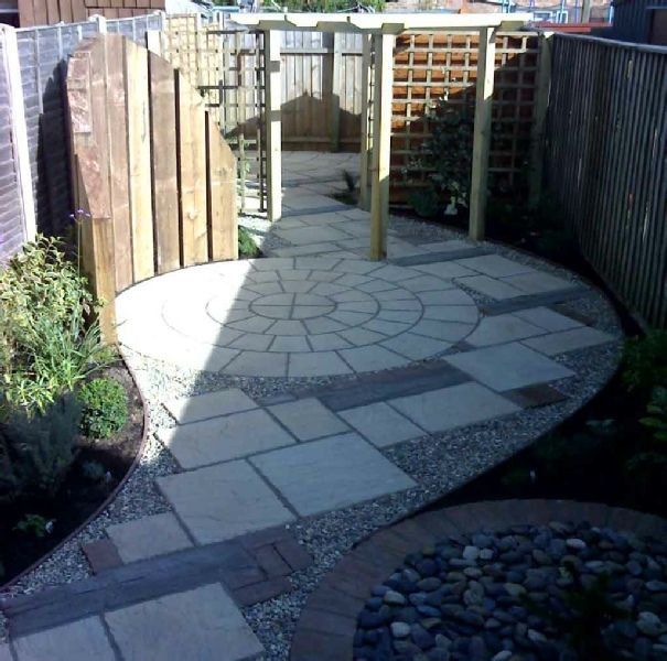 43 best railway sleepers images on pinterest garden for Victorian terraced house garden design