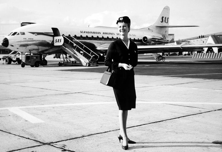Swedish SAS flight attendant uniform