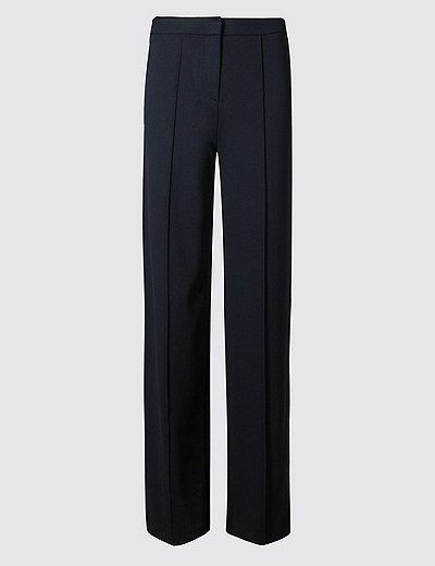 Wide Leg Ponte Trousers | Marks & Spencer London
