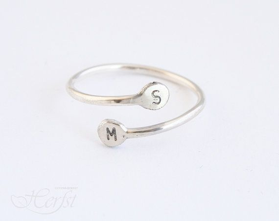 Hey, I found this really awesome Etsy listing at https://www.etsy.com/listing/155317185/initial-ring-sterling-silver-hand