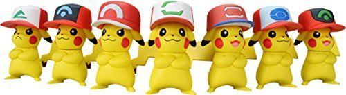 New! Pokemon Satoshi's Pikachu Mini Figure 7 piece Set Theater Ver. Hat Japan FS #TakaraTomy