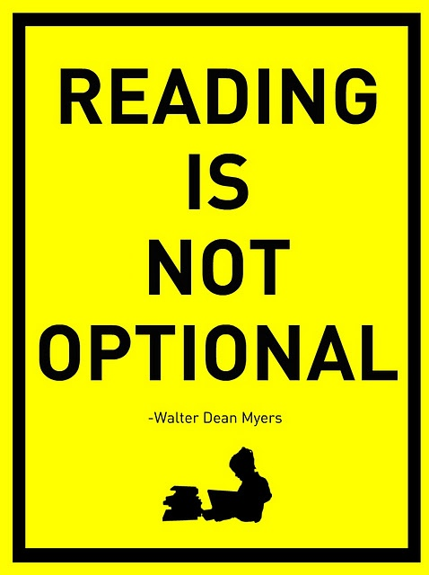 """Inspired to riff on this theme: """"The person who can read and does not has no advantage over those who cannot read"""" Will post this poster soon.... ;-): Worth Reading, Classroom, Dean Myers, Walter Dean, Stuff, Quotes, Books Worth, Dean O'Gorman"""