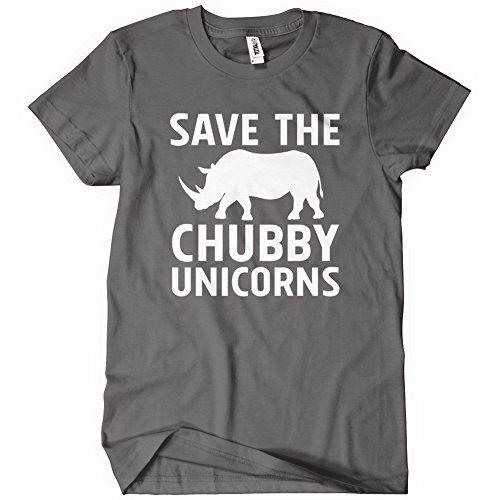 Save the Chubby Unicorns Womens Funny T-Shirt Tee Rhino Animal Joke Gift Cute